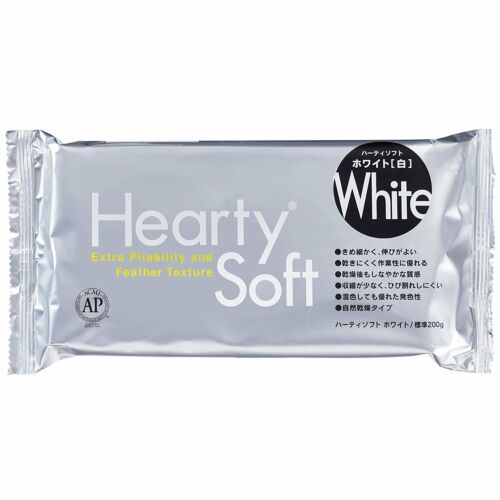 PADICO Hearty Soft Clay Extra Pliability and Feather Texture 200 g White F//S