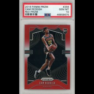 2019-20-Cam-Reddish-Panini-Red-Prizm-299-Rookie-RC-256-PSA-10-Hawks-Gem-Mint