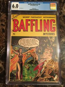 Details about Baffling Mysteries #18 CGC 6 0 OW/W *SCARCE PRE-CODE HORROR*  SKULL PCH/GGA COVER