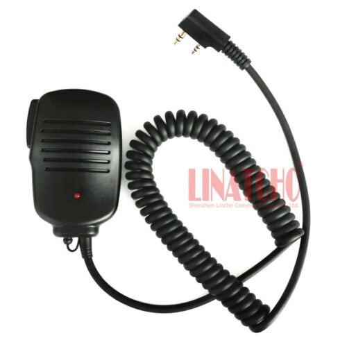Baofeng UV-5R Small Portable Radio Walkie Talkie red light 2 pins microphone