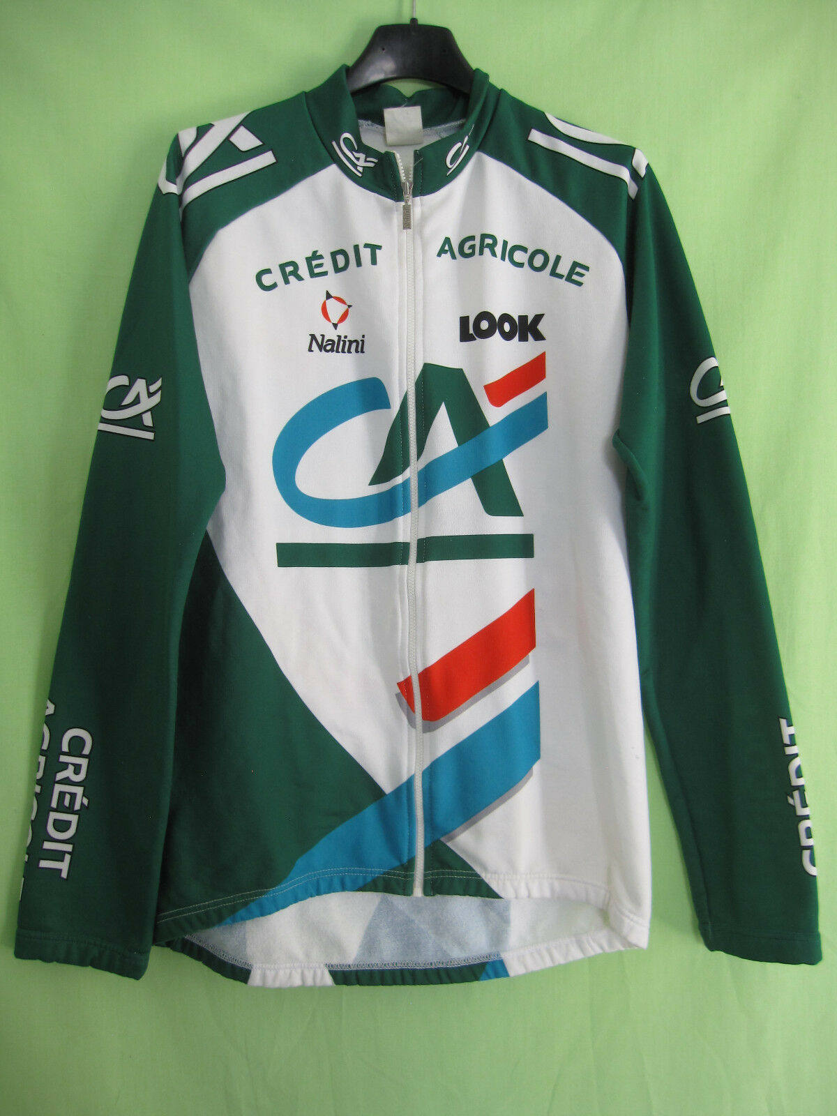 Maillot cycliste Credit Agricole LOOK Nalini Manche Longue Jersey - 4   L