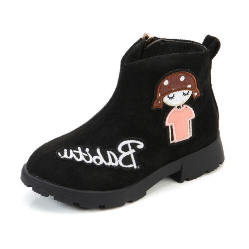 Kids Girls Casual Fashion Martin Shoes Comfortable Walking High top Zip Outdoor