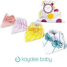 Kaydee Baby Bandana Bibs Girl, adjustable, lined set of 4