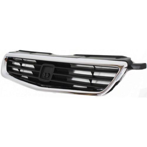 Plastic For Civic 96-98 Chrome Shell w// Black Insert Grille