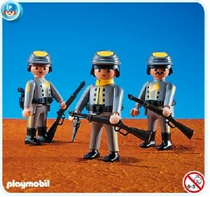 Playmobil 3 Rebel Soldiers 7046 western brand NEW in bag collectors 173