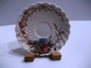 Harvest-Clarice-Cliff-Saucer-5-5-8-034-A-J-Wilkinson-England-Swirl-Brown-Floral