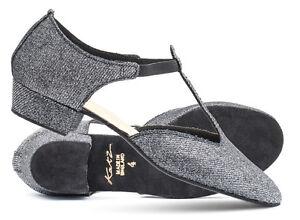 Sandale Le Détails Dance Afficher Titre Brillant Par Chaussures Graphite Danse Salsa D'origine Femme Noir Grecque Sur Katz Line rdBCeox