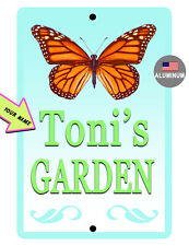 Personalized Garden Sign Your Name Garden Aluminum Hi Gloss Color Bfly791