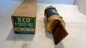 new in box eco 11600 600 amp 250 volt fuse ebay. Black Bedroom Furniture Sets. Home Design Ideas