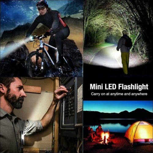 Super Bright XPE+COB LED Flashlight USB Rechargeable 3Mode Zoom Torch For Hiking