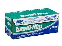 Handi-film 12x2000' Plastic Food Service Film Cling Wrap Roll - Hfa 21205