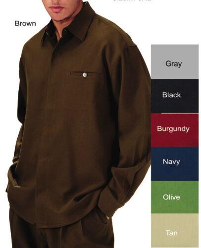by Fortino Landi #2612 Men/'s 3-pc Walking SET// Casual Sets shirt+pants+belt