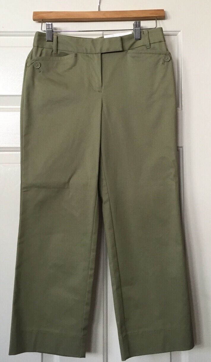 NWT Ann Taylor Laura Cropped Career Pants Size 0P