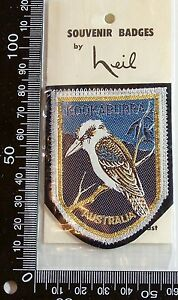 VINTAGE-KOOKABURRA-AUSTRALIA-EMBROIDERED-SOUVENIR-PATCH-WOVEN-CLOTH-SEW-ON-BADGE