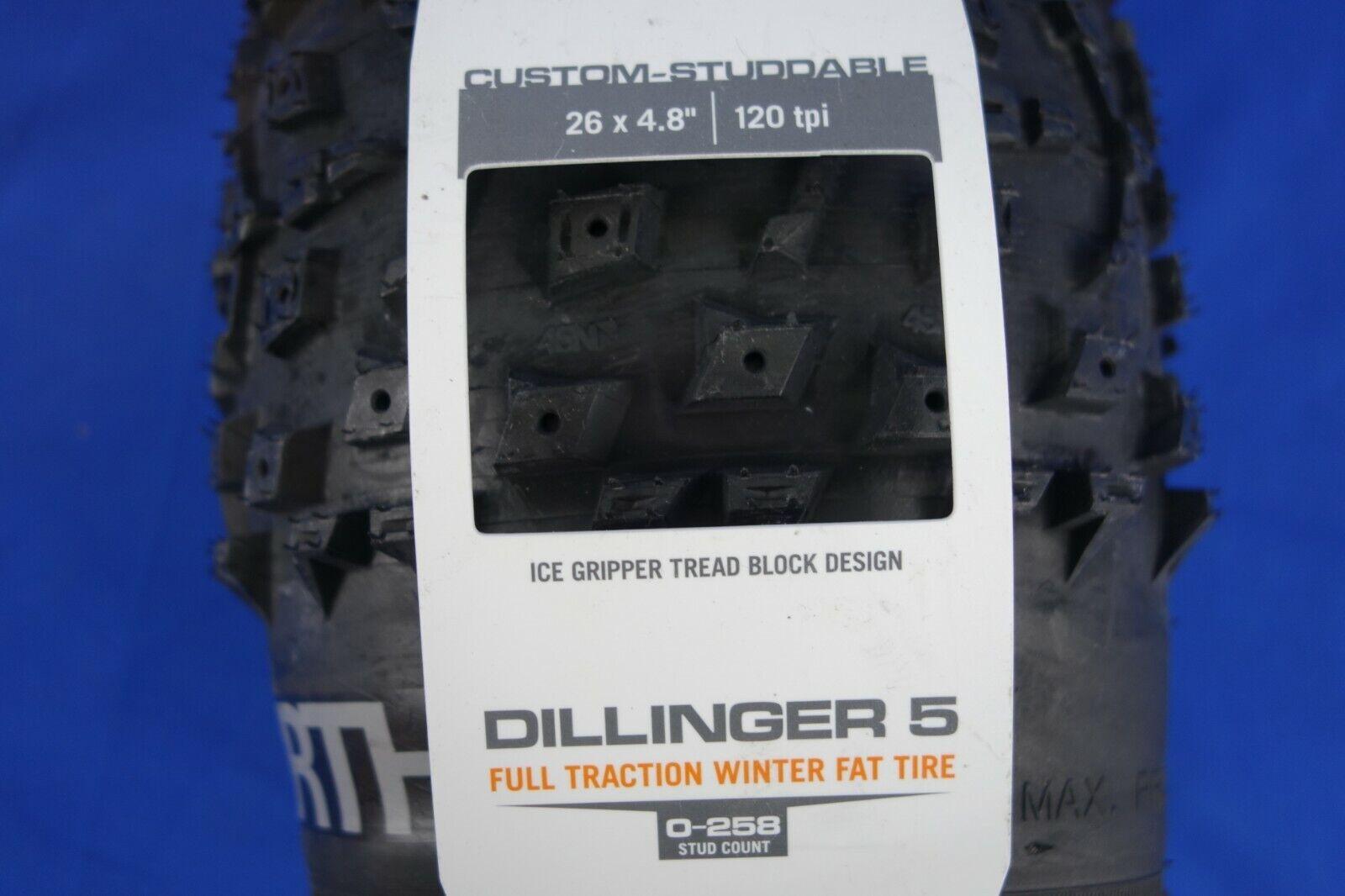 Nuovo 45nrth Dillinger 5 26  x 4.80  Grasso Pneumatico Moto  120tpi,
