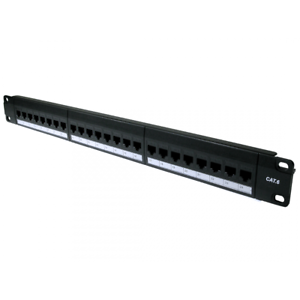 24-Port-Cat6-Gigabit-Patch-Panel-1U-19-034-Network-RJ45-Inline-Coupler-Keystones