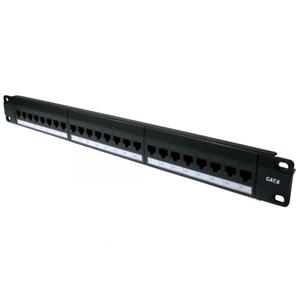 "24 Port Cat6 Gigabit Patch Panel 1U 19/"" Network RJ45 Inline Coupler Keystones"