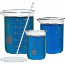 Glass Beaker Set Tall Form 3 Sizes 50 100 And 250ml Glassware Amp Labware