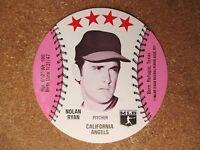 1976 MSA Disc Wendy's Wendys Hamburgers Restaurant Nolan Ryan California Angels