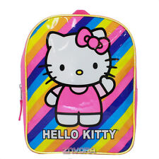 "Sanrio Hello Kitty Rainbow 11"" Mini Toddler Backpack Bag"