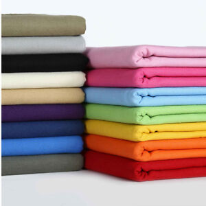 12OZ-Plain-Heavy-Duty-Duck-Canvas-Fabric-100-Cotton-Upholstery-Outdoor-Material