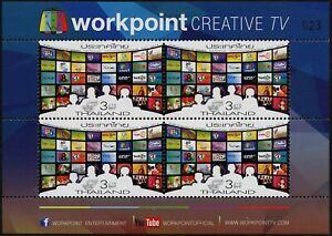 Thailand-2014-Kommunikationstag-3433-C-Kleinbogen-IV-Workpoint-Creative-TV-MNH