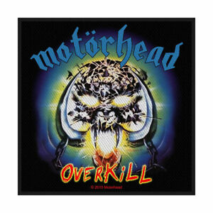 MOTORHEAD-Overkill-Woven-Sew-On-Patch-Official-Licensed-Band-Merch-Lemmy