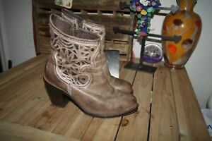 dd3093839de Corral BOOTS 8 M Gray Distressed Leather Cowgirl Boots Size 8 HIGH ...