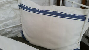 High-Quality-White-Linen-with-Blue-or-Grey-Stripe-Cotton-Cushion-Cover