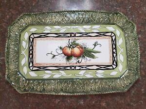 FITZ & FLOYD Large Rectangular Serving Platter in Vista Bella Pattern
