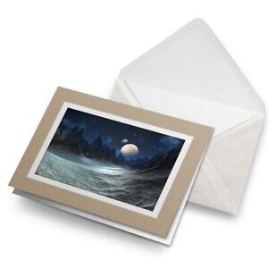 Greetings-Card-Biege-Sci-Fi-Moon-Alien-Planet-Space-Art-16867