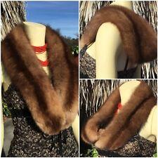 "Russian Barguzin Sable Fur 41.5"" Stole Boa Scarf Collar Shawl Luxirious X Long"