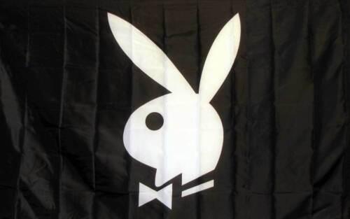 Playboy Bunny Flag 3x5FT Banner Gift Dorm Garage Man Cave Dad Mom Sorority Fun