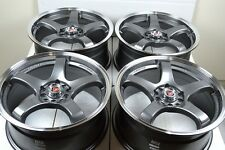 17 Drift gun metal Rims Wheels Astra HHR Cobalt SS Focus Fusion Dart 5x108 5x110