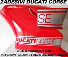 kit adesivi moto ducati 899 1199 panigale per carene color alluminio spazzolato