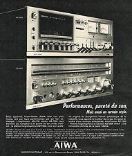 PUBLICITE ADVERTISING 024   1975   AIWA    hi-fi AX 7500