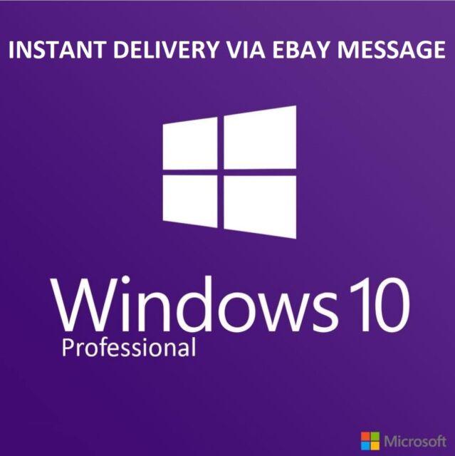 Windows 10 Pro Professional 32 64bit OEM Key Original Code From Refurbished PC