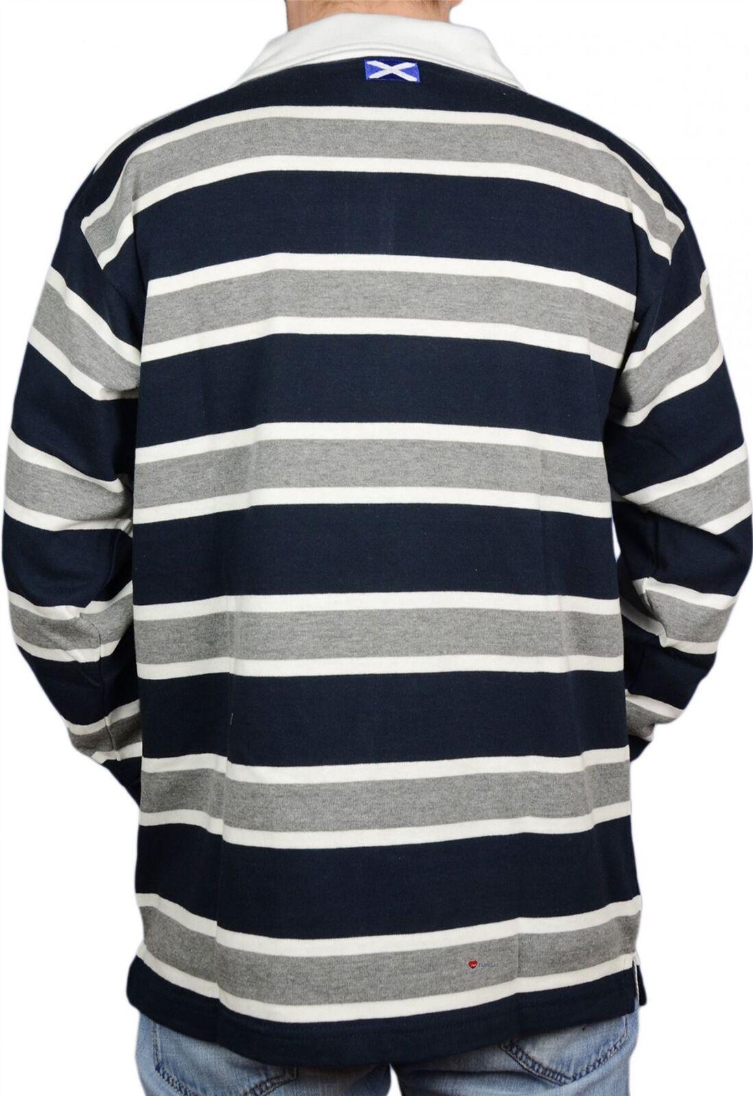 Scottish Rugby Shirt Mens Edinburgh 62 High Design grau and and and Navy X-Large  | Bekannt für seine schöne Qualität  34d33d