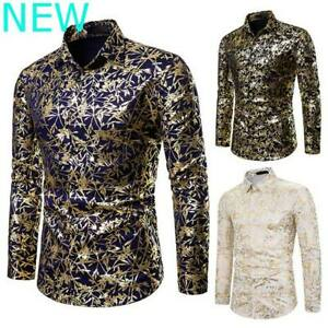 Blouse-Floral-Dress-Shirts-Luxury-Top-Slim-Fit-Mens-Long-Sleeve-Casual-Stylish