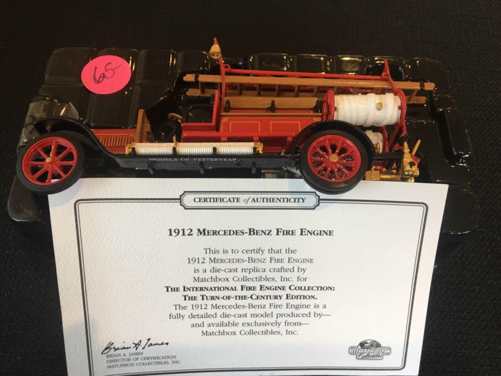Matchbox Die-Cast Collectible - 1912 Mercedes-Benz Fire Engine