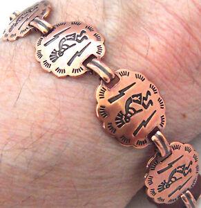 Copper-Bracelet-7-25-034-Linked-Wheeler-Kokopelli-Arthritis-Healing-Folklore-cb-265