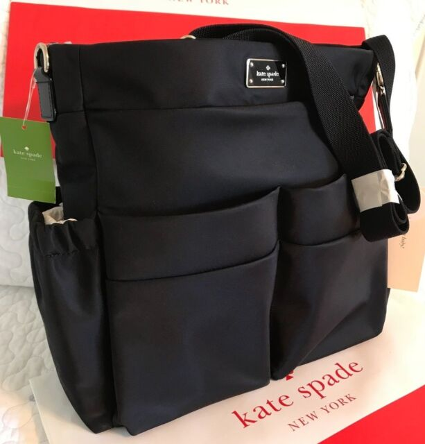 bd1cd54cd686 Kate Spade Blake Avenue Adamson Baby Diaper Bag Black Nylon WKRU4214 ...