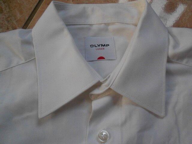 E9851 Olymp Luxor Chemise 40 Blanc Sans Sans Sans Motif f4cc9a