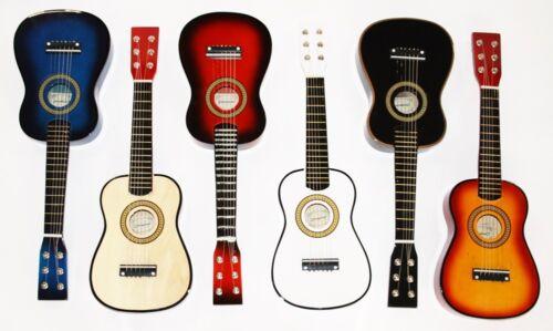 1/16 Kindergitarre 23 Zoll 6 Saiten Holz Spielzeug Gitarre in 6 Farben