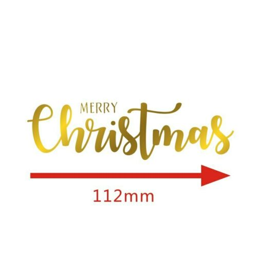 Christmas Letter Snowflake Bell HOT FOIL PLATE Metal Cutting Dies Scrapbooking A