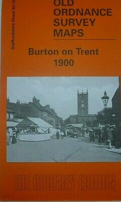Old Ordnance Survey Maps Uttoxeter Burton Rugeley /& Plan Weston Upon Trent 1905