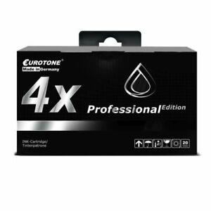 4x Eurotone Pro Ink Black For Epson Stylus Photo RX-500 RX-620 R-320 R-300-M