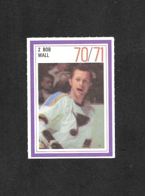 1970-71  ESSO POWER PLAYER , BOB WALL , ST. LOUIS BLUES
