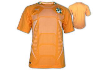 Puma-costa-de-marfil-a-casa-camiseta-naranja-FIF-futbol-camiseta-WM-Africa-Cup-S-XXL