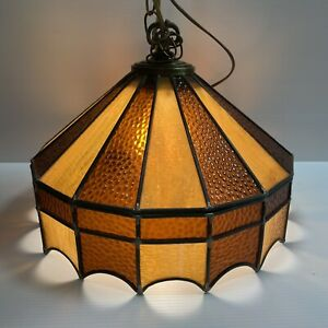 Tiffany Style Pendant Light Kitchen Bar Stained Glass Dome Hanging Ceiling Lamp